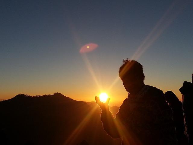 太陽をつかむ