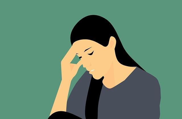 適応障害とうつ状態に悩む女性